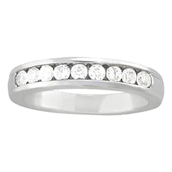 Jewelry - 0.45 Carat Diamond Engagement Band Channel Set